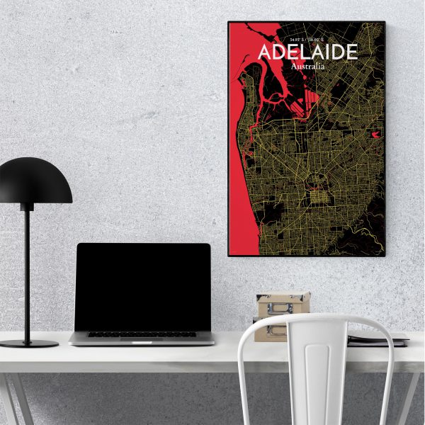 Adelaide City Map Poster by OurPoster.com