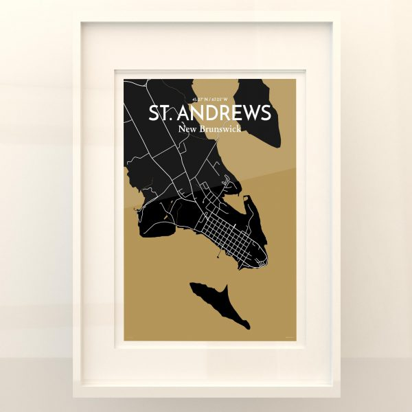 St. Andrews City Map Poster by OurPoster.com