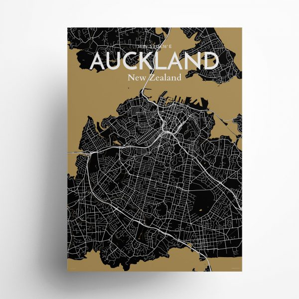 Auckland City Map Poster by OurPoster.com