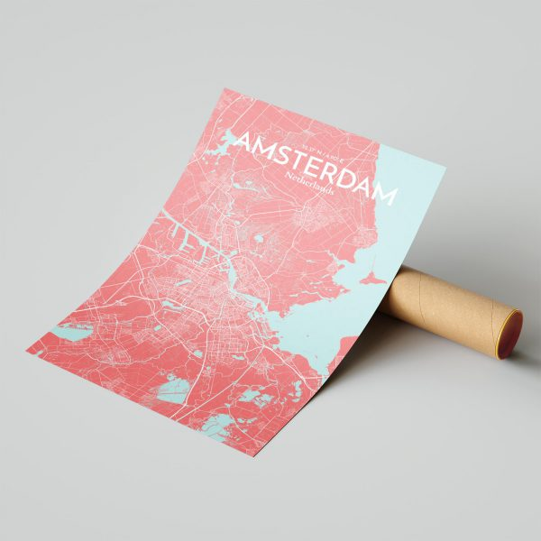 Amsterdam City Map Poster by OurPoster.com