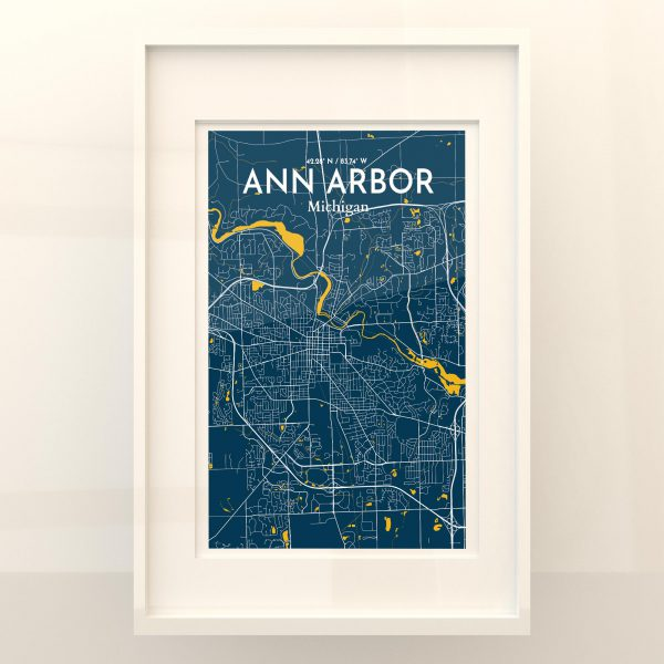 Ann Arbor City Map Poster by OurPoster.com