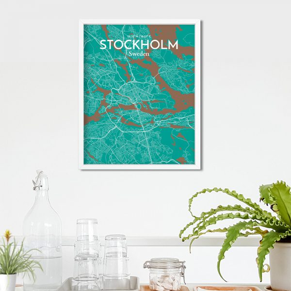 Stockholm City Map Poster by OurPoster.com