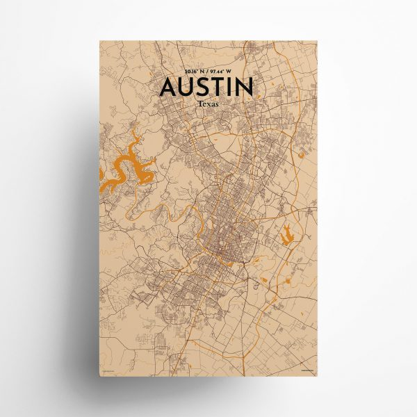 Austin City Map Poster by OurPoster.com