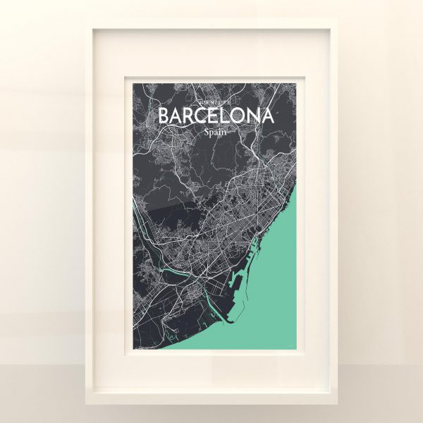Barcelona City Map Poster by OurPoster.com