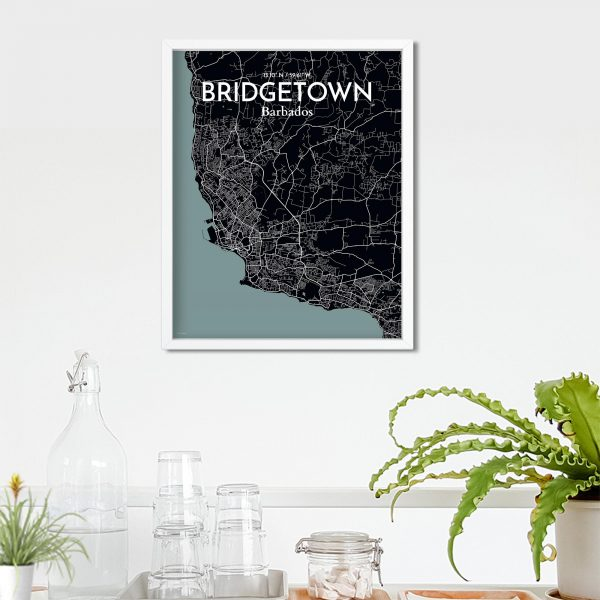 Bridgetown City Map Poster by OurPoster.com