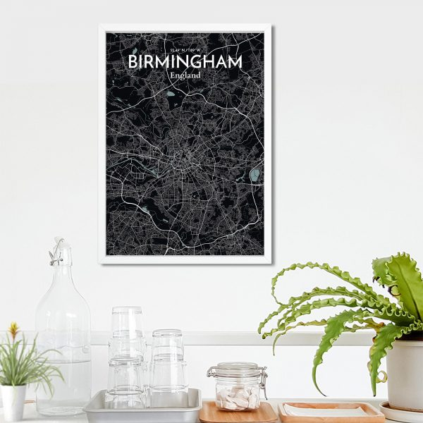 Birmingham City Map Poster by OurPoster.com