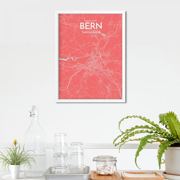 Bern City Map Poster by OurPoster.com