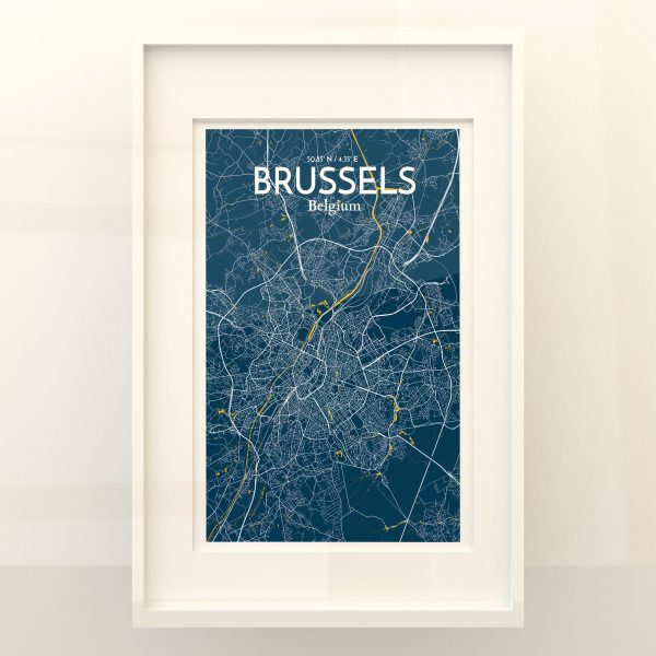 Brussels City Map Poster by OurPoster.com