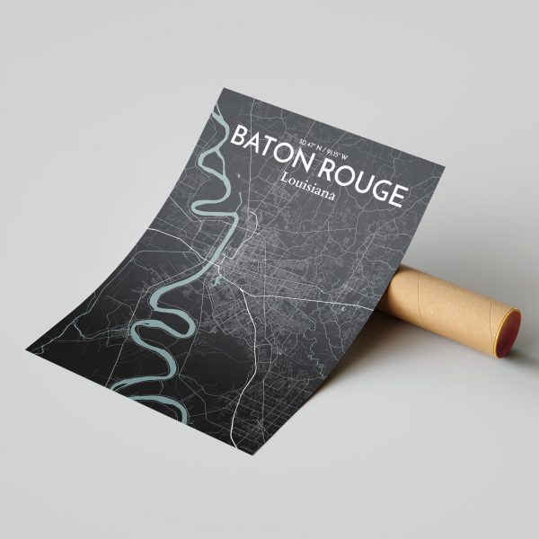 Baton Rouge City Map Poster by OurPoster.com