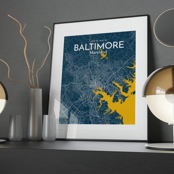 Baltimore City Map Poster by OurPoster.com