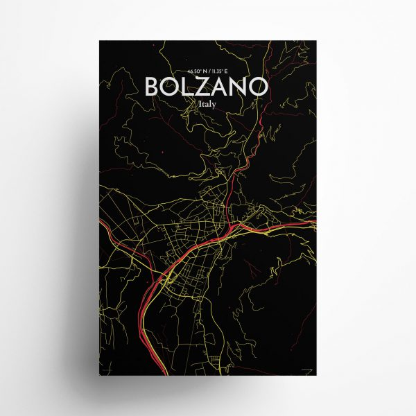 ��Bolzano City Map Poster by OurPoster.com