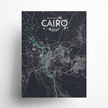 "Cairo city map poster in Dream of size 18"" x 24"""