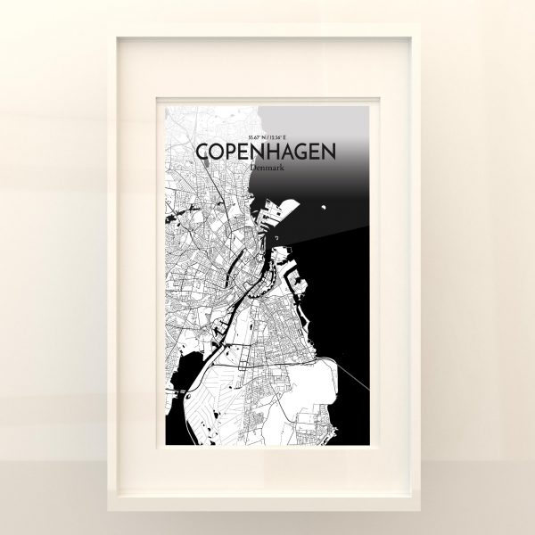 Copengagen City Map Poster by OurPoster.com