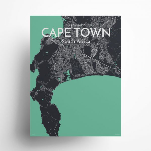 "Cape Town city map poster in Dream of size 18"" x 24"""