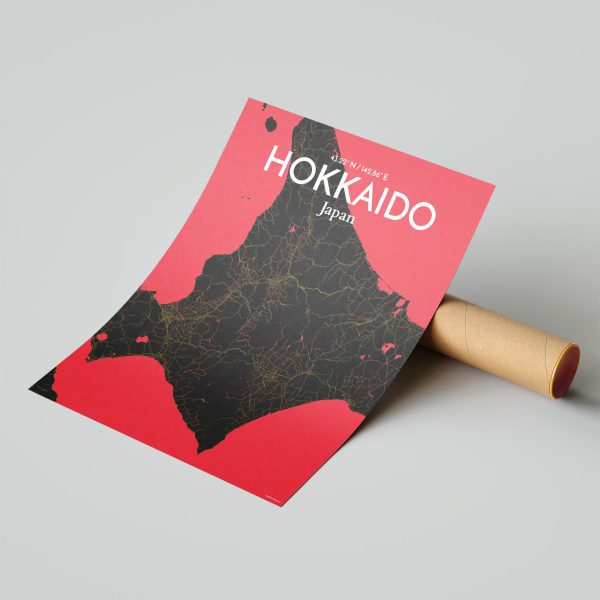 Hokkaido City Map Poster by OurPoster.com