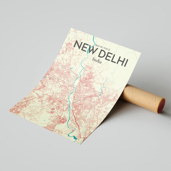 New Delhi City Map Poster by OurPoster.com