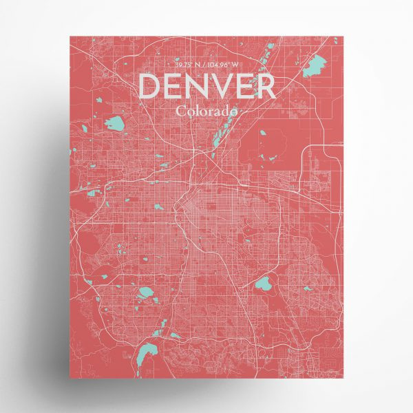 Denver City Map Poster by OurPoster.com