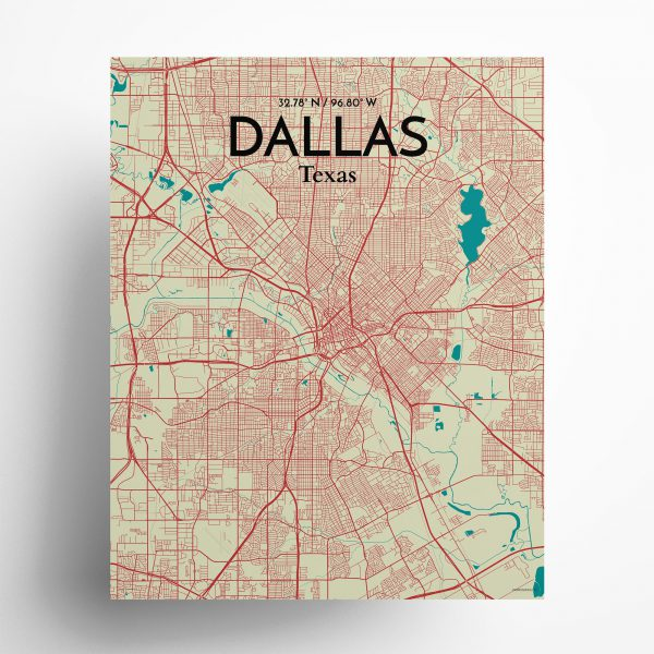 Dallas City Map Poster by OurPoster.com