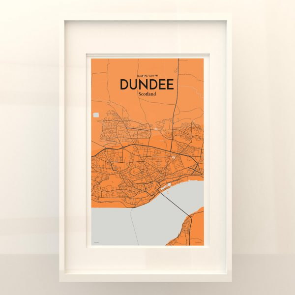 Dundee City Map Poster by OurPoster.com