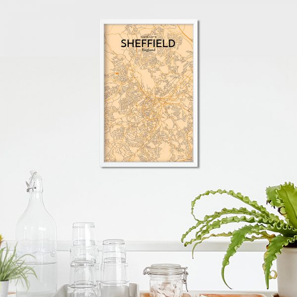Sheffield City Map Poster by OurPoster.com