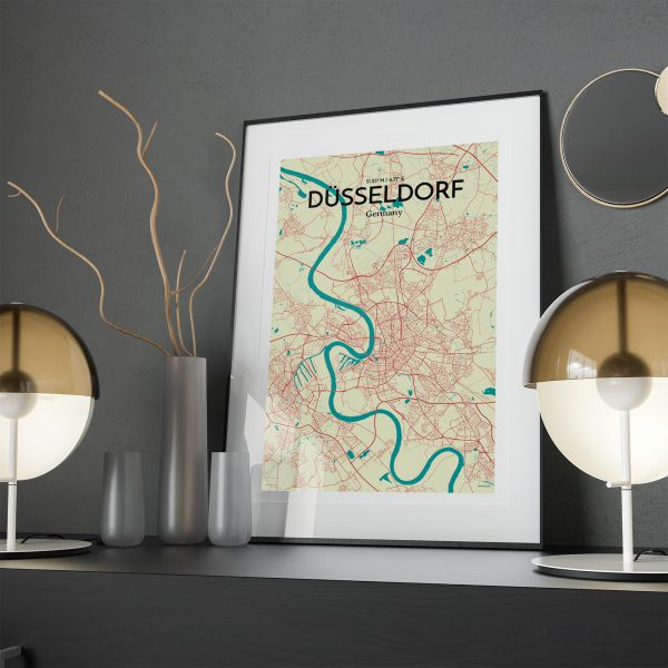 D�sseldorf City Map Poster by OurPoster.com