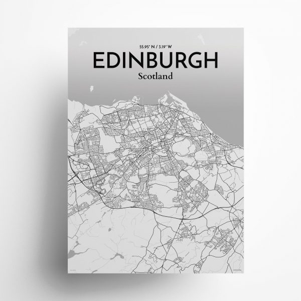 Edinburgh City Map Poster by OurPoster.com