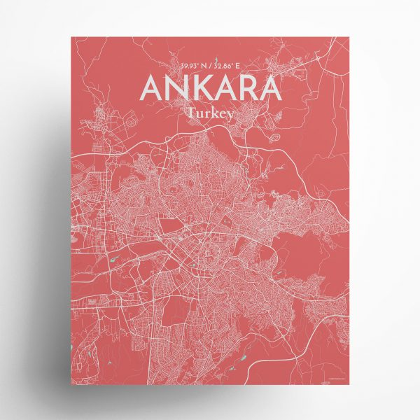 Ankara City Map Poster by OurPoster.com