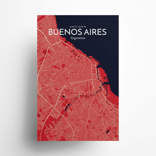 Buenos Aires City Map Poster by OurPoster.com