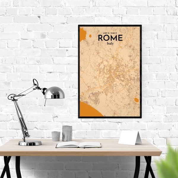Rome City Map Poster by OurPoster.com