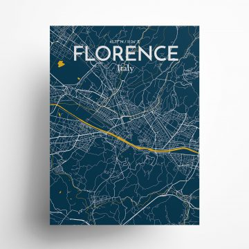 """Florence city map poster in Amuse of size 18"""" x 24"""""""