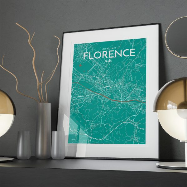 Florence City Map Poster by OurPoster.com
