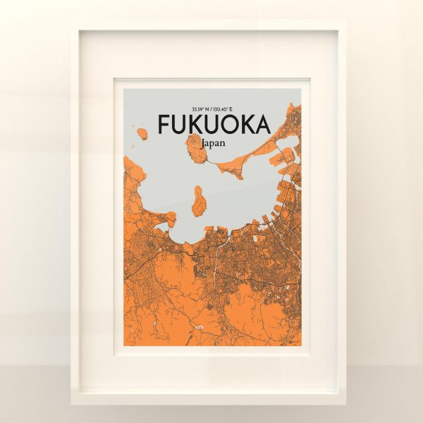 Fukuoka City Map Poster by OurPoster.com