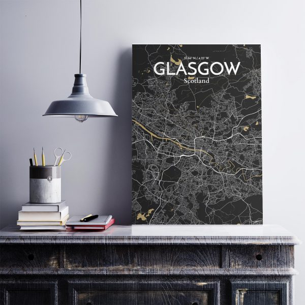GLASGOW City Map Poster by OurPoster.com