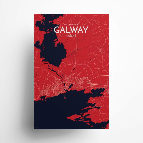 Galway City Map Poster by OurPoster.com