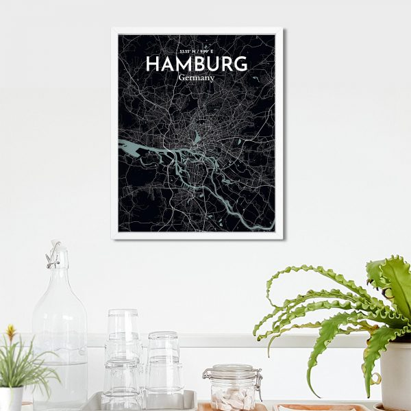Hamburg City Map Poster by OurPoster.com