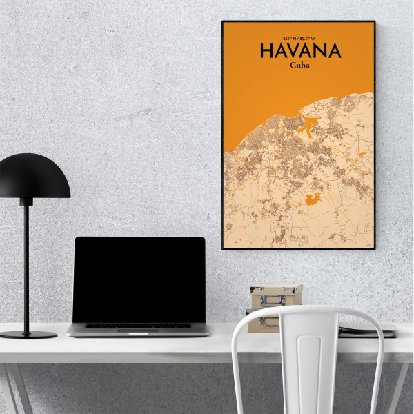 Havana City Map Poster by OurPoster.com