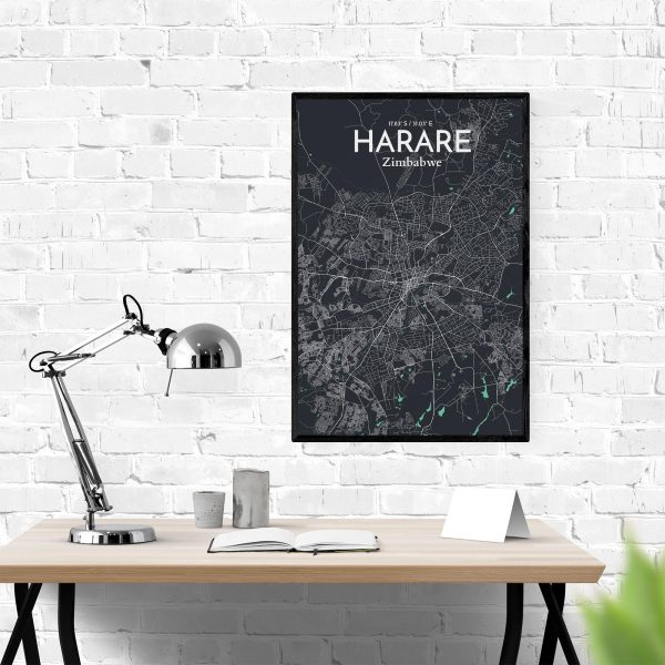Harare City Map Poster by OurPoster.com