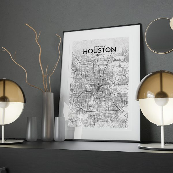 Houston City Map Poster by OurPoster.com
