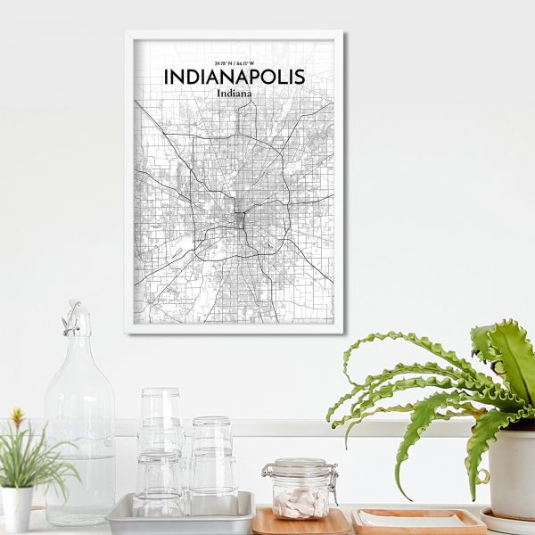 Indianapolis City Map Poster by OurPoster.com