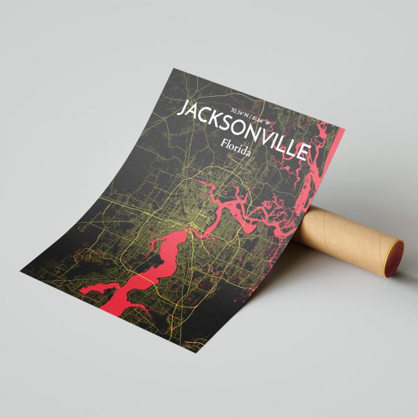 Jacksonville City Map Poster by OurPoster.com