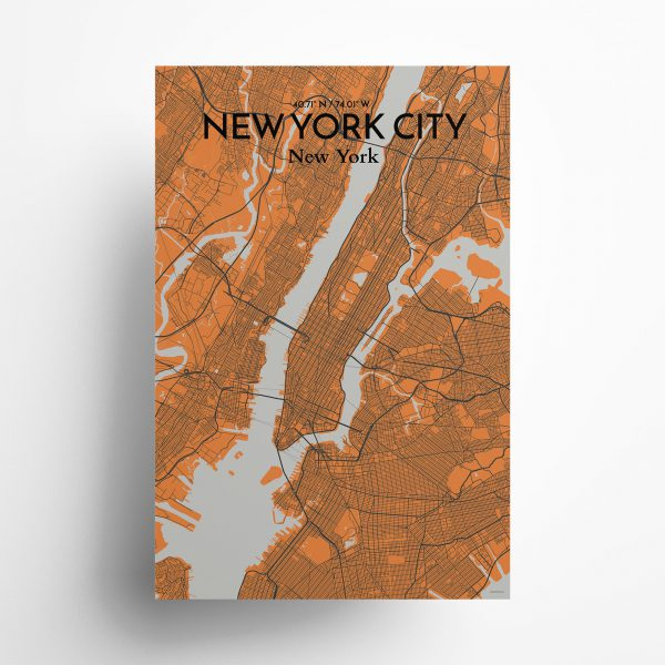 New York City City Map Poster by OurPoster.com