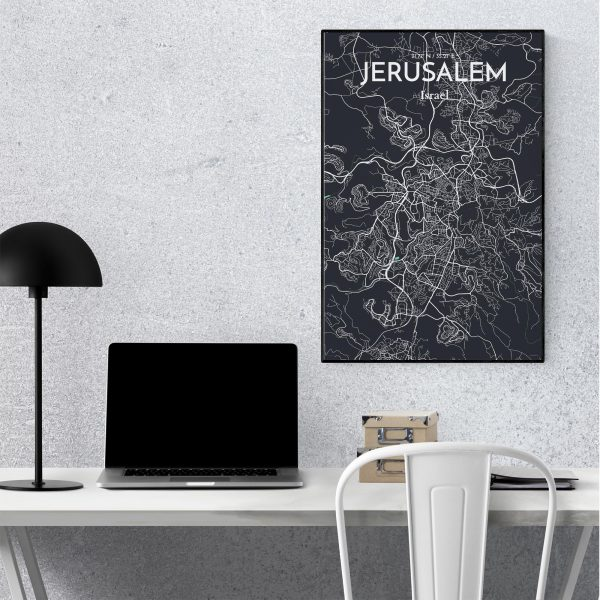 Jerusalem City Map Poster by OurPoster.com