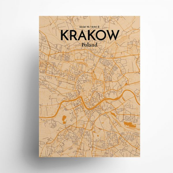 Krakow City Map Poster by OurPoster.com