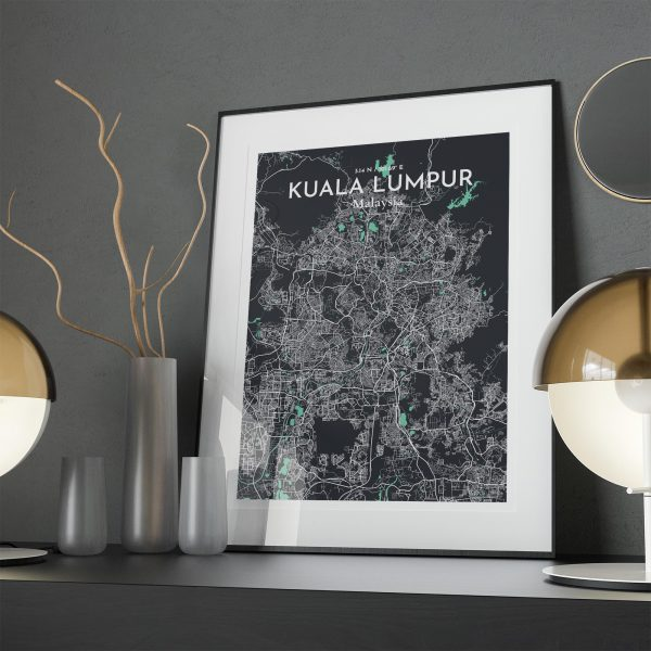 Kuala Lumpur City Map Poster by OurPoster.com