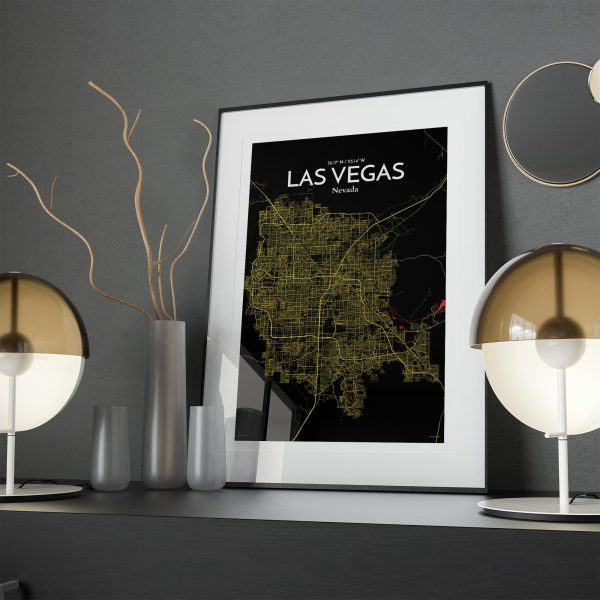 Las Vegas City Map Poster by OurPoster.com