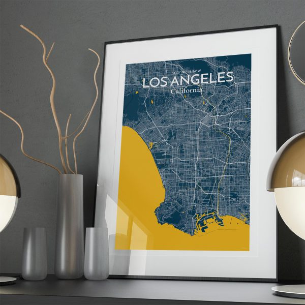 Los Angeles City Map Poster by OurPoster.com
