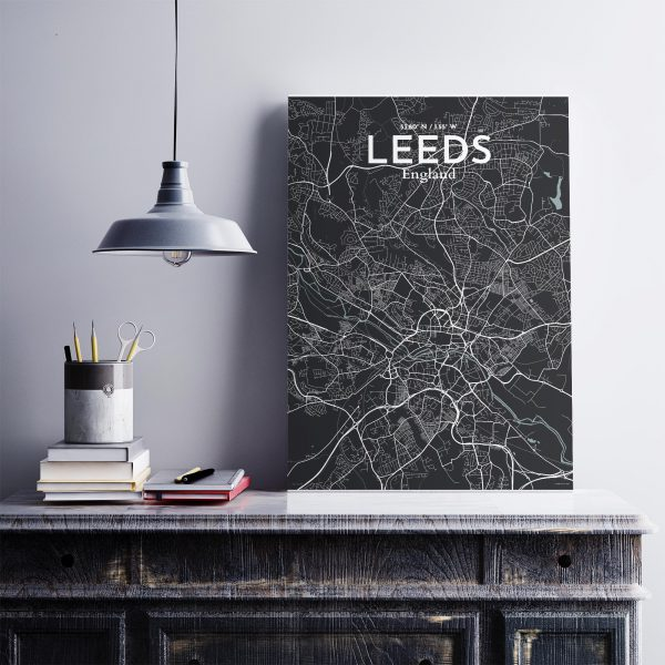 Leeds City Map Poster by OurPoster.com