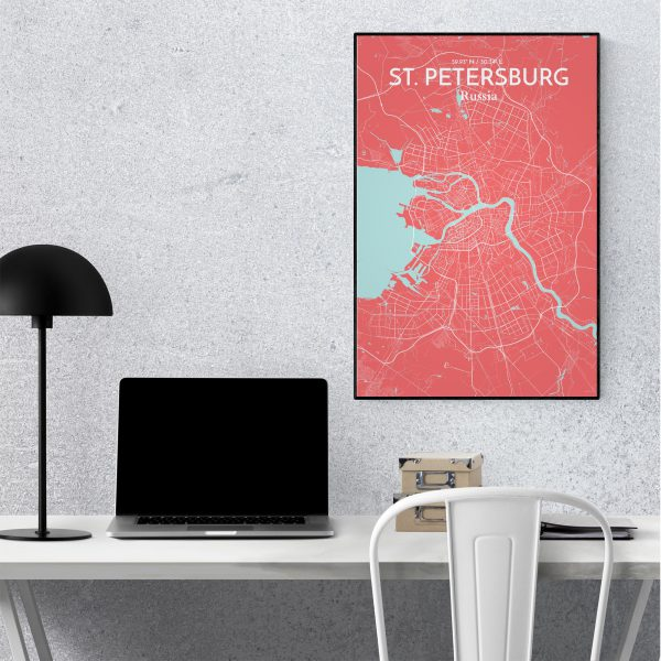 St. Petersburg City Map Poster by OurPoster.com