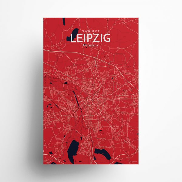 Leipzig City Map Poster by OurPoster.com