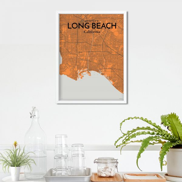 Long Beach City Map Poster by OurPoster.com